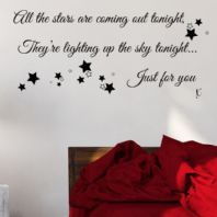 All the Stars are Coming out Tonight ~ Wall sticker / decals